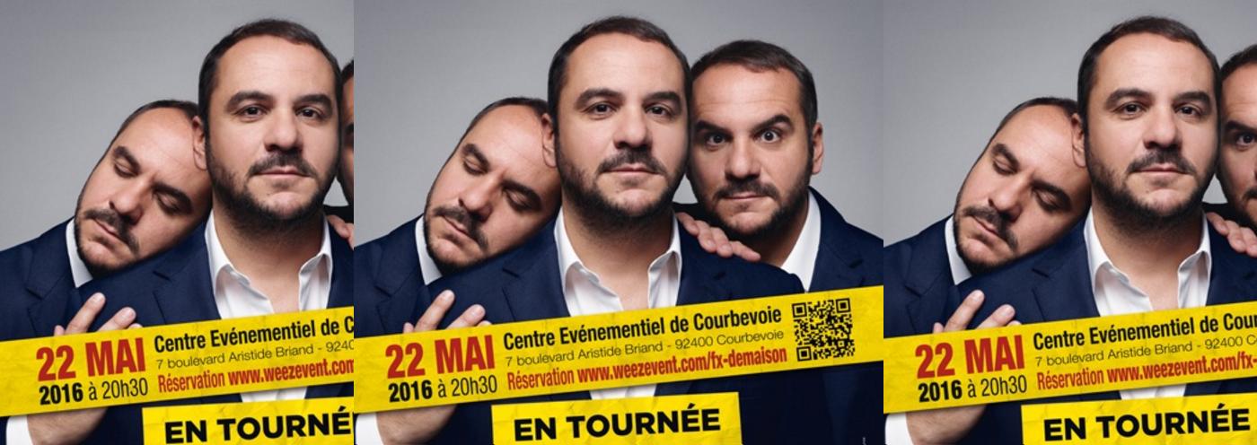 François-Xavier Demaison en tournée pour ASF92