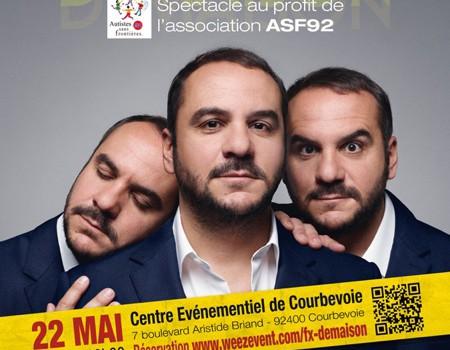 Le 22 mai 2016: François-Xavier Demaison en tournée pour ASF92
